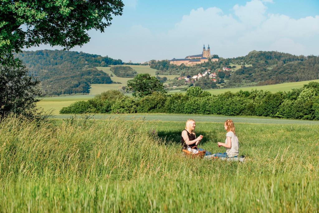 Fernblick auf Kloster Banz